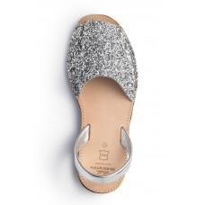 Menorquina zilver glitter