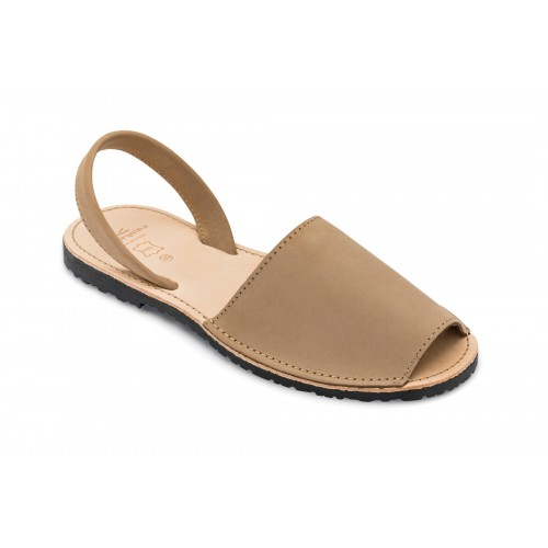 Menorquina-sandaal-avarca-taupe-spanje-menorquinasnl-500×500