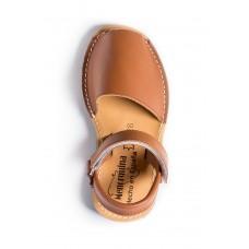 Spaanse sandalen-Menorquina-Avarca-Ibiza-kinder-bruin-enkel-228×228