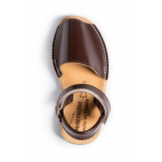 Spaanse sandalen-Menorquina-Avarca-Ibiza-kinder-donkerbruin-enkel-228×228