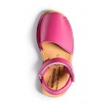 Spaanse sandalen-Menorquina-Avarca-Ibiza-kinder-roze-enkel-228×228