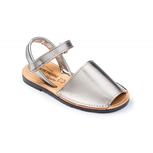 sandalen-kinder zilver-ibiza-spanje-menorquinasnl